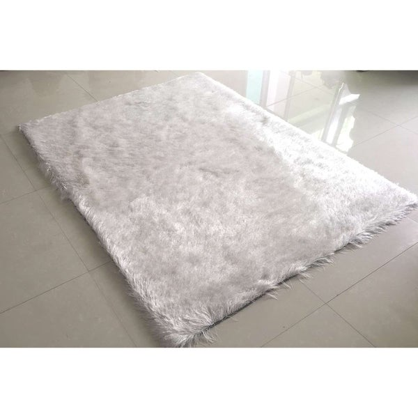 """Rug Tycoon Abstract Modern Contemporary White Rug - 5'3""""x7'2""""rectangular"""