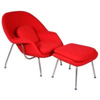 MLF Womb Chair & Ottoman(Red Cashmere)