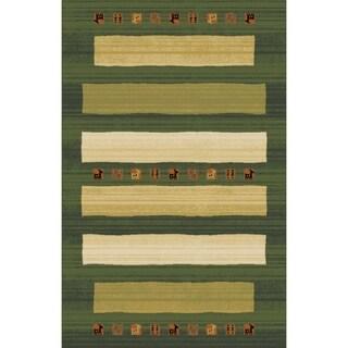 "Rug Tycoon Oriental Traditional Green Rug - 5'3""x7'2""rectangular"