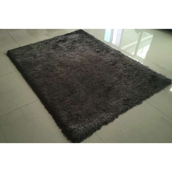 "Rug Tycoon Abstract Modern Contemporary Grey Rug - 7'11""x9'10""rectangular"