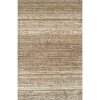 """Rug Tycoon Abstract Modern Contemporary Brown Rug - 5'3""""x7'2""""rectangular"""
