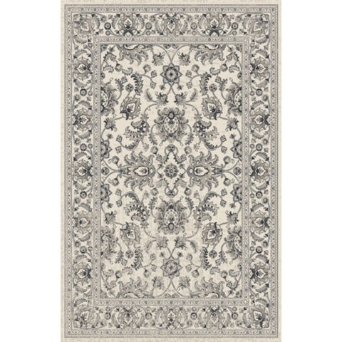 Rug Tycoon White Wool Oriental Traditional Area Rug - 5'3 x 7'2