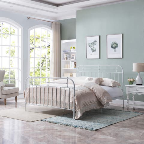 Nathan Queen-Sized Iron Bedframe by Christopher Knight Home
