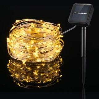 100LED Solar String Light with 8 Modes Warm White Decorative Light