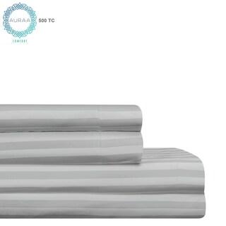 AURAA Comfort 500 TC Long Staple AMERICAN Stripe Pima Cotton Sheet Set