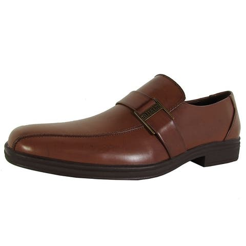 Kenneth Cole Unlisted Mens Lay Low Slip On Loafer Shoes Cognac
