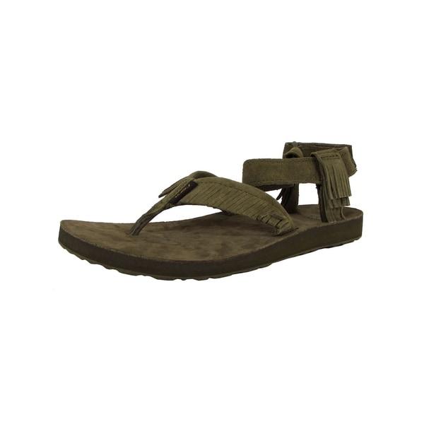 6869e8ed61c3 Shop Teva Womens Original Sandal Leather Fringe Sandal Shoes