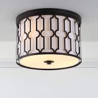 "Link 2-Light 12.75"" Metal LED Flush Mount, Oil Rubbed Bronze by JONATHAN  Y"