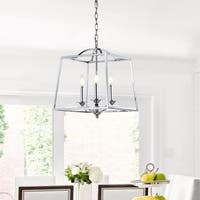 "Gloria 14.5"" 3-light Metal LED Pendant, Chrome by JONATHAN  Y"