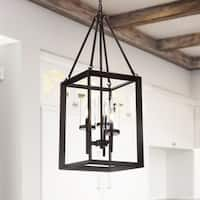 """Anna 12"""" 3-light Metal/Glass LED Pendant, Oil Rubbed Bronze by JONATHAN  Y"""