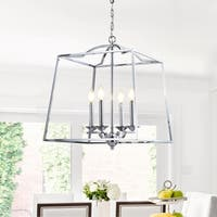 "Gloria 19"" 4-light Metal LED Pendant, Chrome by JONATHAN  Y"