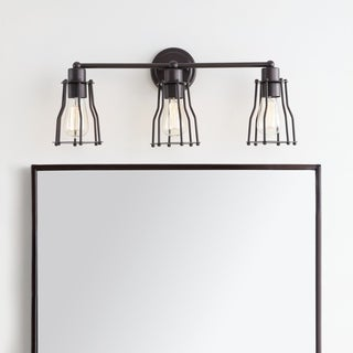 """Florence 24"""" 3-light Metal Vanity Light, Oil Rubbed Bronze by JONATHAN Y"""