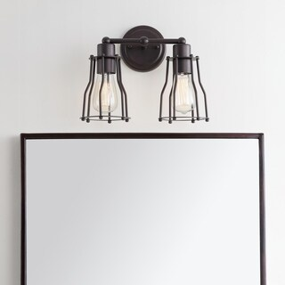 """Florence 12.5"""" 2-light Metal Vanity Light, Oil Rubbed Bronze by JONATHAN Y"""