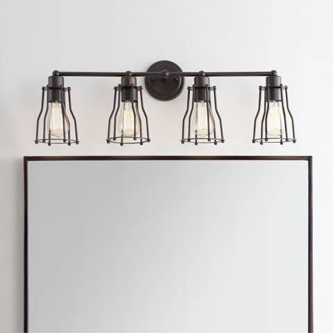 "Florence 29.5"" 4-light Metal Vanity Light, Oil Rubbed Bronze by JONATHAN Y"