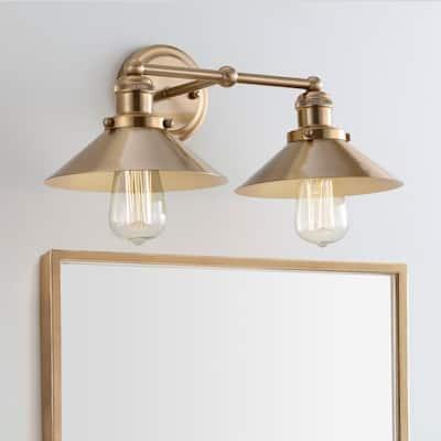 Gold 2 Bathroom Vanity Lights Find