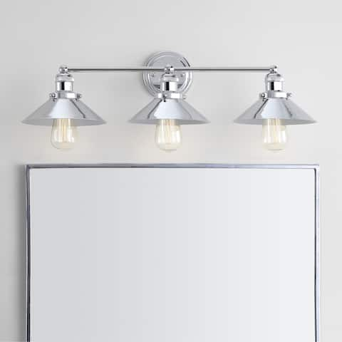 "June 26.5"" 3-light Metal Vanity Light, Chrome by JONATHAN Y"