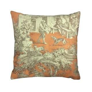 IC Linen Company by Kathy FielderFiddler Toile 16 Inch Throw Pillow