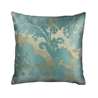 IC Linen Company by Kathy Fielder Evangelista Woven Stripe and Damask Design 16 Inch Throw Pillow