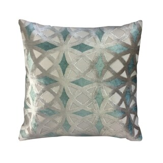 IC Linen Company by Kathy Fielder Winter Velvet Geometric Throw Pillow