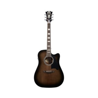 D'Angelico Premier Bowery Acoustic-Electric Guitar - Grey Black