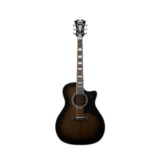 D'Angelico Premier Gramercy Acoustic-Electric Guitar - Grey Black