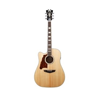 D'Angelico Premier Bowery Lefty Acoustic-Electric Guitar - Natural