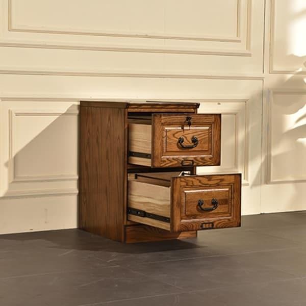 Shop Ward Burnished Walnut Finish Wood 2 Drawer File Cabinet   Free  Shipping Today   Overstock   22848711