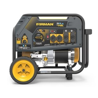Firman H05754 7100/5700 Watt Dual Fuel Recoil Start Generator, cETL - YELLOW