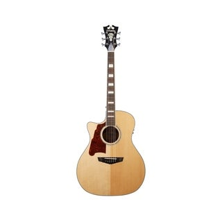 D'Angelico Premier Gramercy Lefty Acoustic-Electric Guitar - Natural