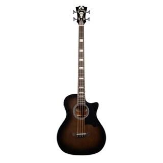 D'Angelico Premier Mott Acoustic-Electric Bass - Grey Black