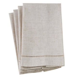 Poly And Linen Blend Guest Towels With Plain Hemstitch Design