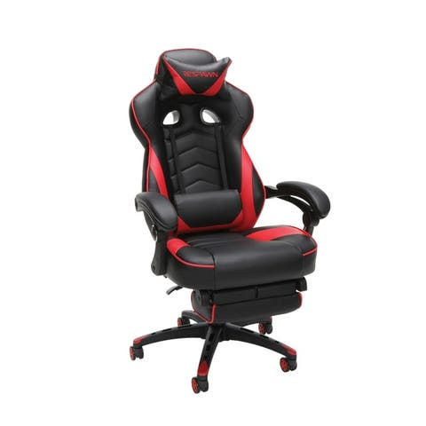 RESPAWN 110 Racing Style Reclining Leather Gaming Chair with Footrest