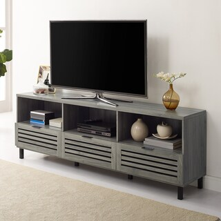"70"" Slat Door TV Stand Console - 70 x 15 x 24h"