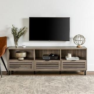 Strick & Bolton Hilla 70-inch Slat Door TV Console - 70 x 15 x 24h