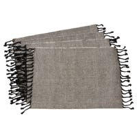 Tassel Design Jute And Cotton Table Mats (Set of 4)