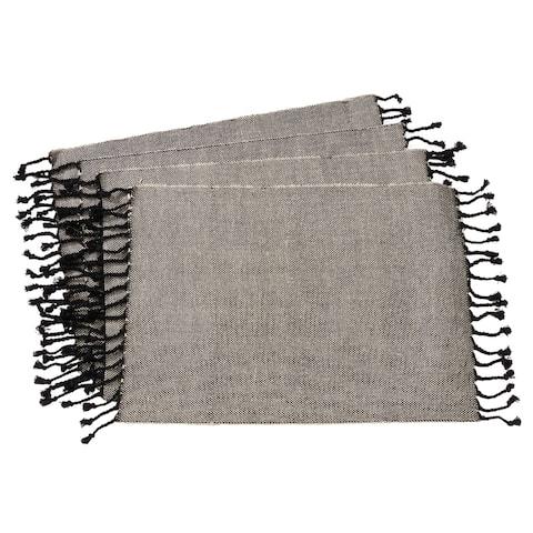 Tassel Design Jute and Cotton Table Mats (Set of 4)