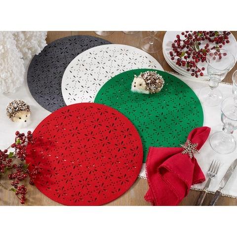 Round Cutwork Felt Table Mats (Set of 4)