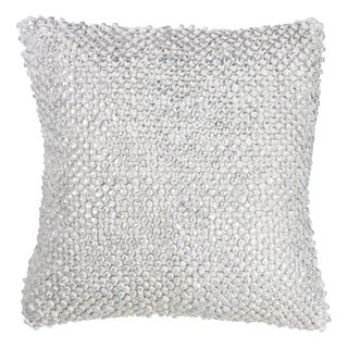 Down-Filled Cotton Throw Pillow With Foil Printed Pom Pom Design