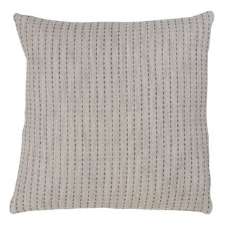 Stitched Design Cotton Throw Pillow With Down Filling