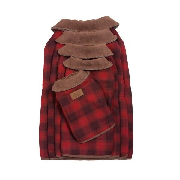 Pendleton Pet Red Ombre Plaid Dog Coat