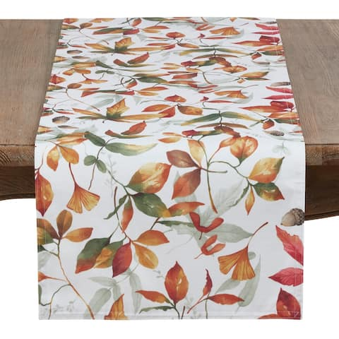 Fall Leaves Design Runner in Soft Tones