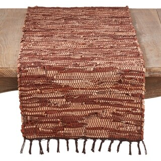 100% Leather Runner With Chindi Design