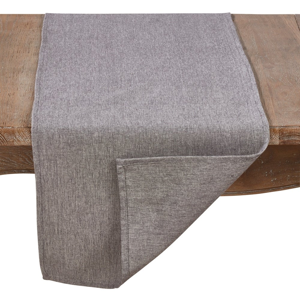 Shop Cotton Table Runner In Solid Grey - Overstock - 22848834