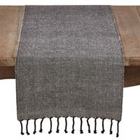 Solid Tasseled Cotton And Jute Runner