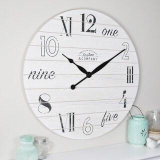 FirsTime & Co® Shiplap Chic Wall Clock