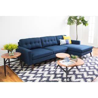 Abbyson Donovan Mid Century Reversible Fabric Sectional Sofa