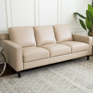 Abbyson Milton Top Grain Leather Sofa