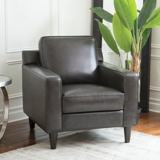 Abbyson Milton Top Grain Leather Armchair