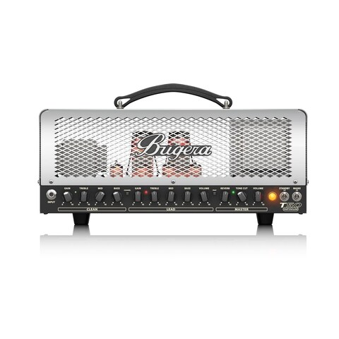 Bugera T50 Infinium Cage-Style 2-Channel Guitar Tube Amp Head w/ Multi-Class A/AB Operation & Reverb - 50 Watt - N/A