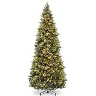 12 ft. Carolina Pine Slim Tree with Clear Lights